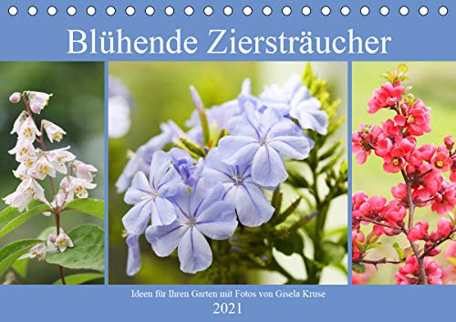 Blühende Ziersträucher (Tischkalender 2021 DIN A5 quer)