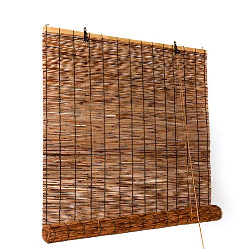 Carbonized Reed Blinds, Straw Blinds, Roller Blinds Finished Curtains, Shade and Blackout, Can Be Customized
