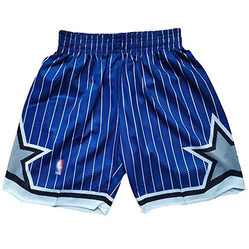 ZXYM Orlando Magic Basketball Shorts Herren Jugendsport Casual Stickerei Basketball Fan Shorts atmungsaktives und dehnbares Material für EIN Cooles Gefühl Wiederholbare Reinigung-Blue C-L