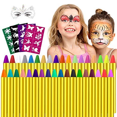 Pinturas Cara,Seguridad no tóxica Pintura Facial para Niño