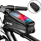 [page_title]-Faireach Rahmentasche Fahrrad mit Handyhalterung, Oberrohrtasche Fahrrad Handy Halterung Wasserdicht mit Fenster für Touchscreen, für iPhone Samsung Smartphone bis zu 6,5 Zoll