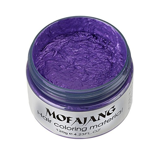 Spdoo Unisex Multi-Color Hair Dye Temporary Modeling Fashion DIY Hair Color Wax Mud Hair Dye Cream (Blue)