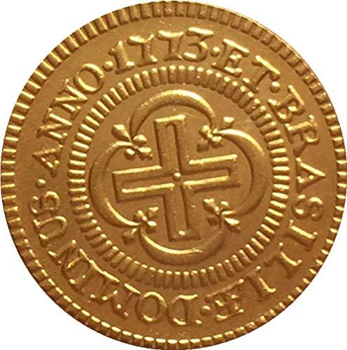 Chaenyu 1773 Brasilianische Münzen Kupfer vergoldete antike Münzhandwerkssammlung