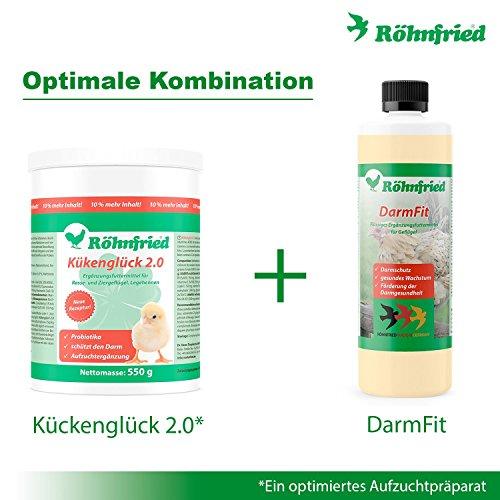 Röhnfried – DarmFit Ergänzungsfuttermittel mit Spurenelementen Konzentrat (5 ml/Liter Trinkwasser) für Geflügel: Hühner, Puten, Gänse, Enten | Immunabwehr und Darmgesundheit (1000 ml) - 4