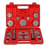 Kit de herramientas de pinza de freno de disco | 18pcs/set Herramienta de rebobinado de pinza de freno de disco universal Herramienta de retroceso del pistón de freno con caja de almacenamiento portát