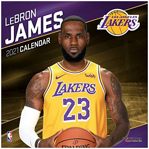 TURNER SPORTS Los Angeles Lakers Lebron James 2021 12X12 Player Wall Calendar (21998012132)