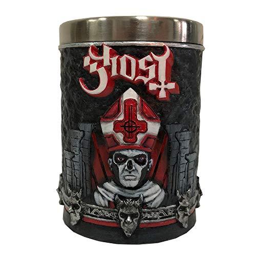 Nemesis Now B4848P9 - Vaso de chupito (resina, acero inoxidable), diseño de fantasma rojo
