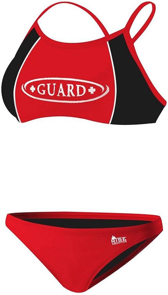 Rise Guard Poly Splice XXSmall Bikini Max 59% OFF Black Cheap red