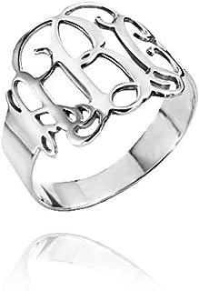 monogram initials ring