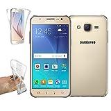 REY Funda Carcasa Gel Transparente Doble 360º para Samsung Galaxy J5 (2016), Ultra Fina 0,33mm, Silicona TPU de Alta Resistencia y Flexibilidad