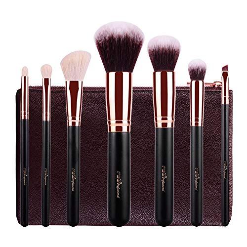 Pinceau Maquillage 8Pcs Cosmétique Professionnel Kits pour Fond de Teint L'anticernes et Correcteur Ontouring,Blush,Lèvre,Creux de La Paupière,Sourcils,Ombreur