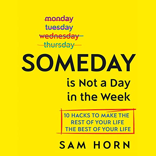 Someday Is Not a Day in the Week audiobook cover art