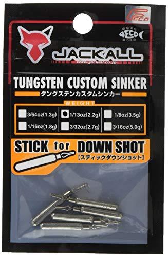 JACKALL(ジャッカル) シンカー JK タングステンカスタムシンカー スティックダウンショット 2.2g(1/13oz) 5個
