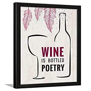 Chaka Chaundh Wine Quotes Poster in Composite Wood (Beige, 13.5 X 10.5 Inches)