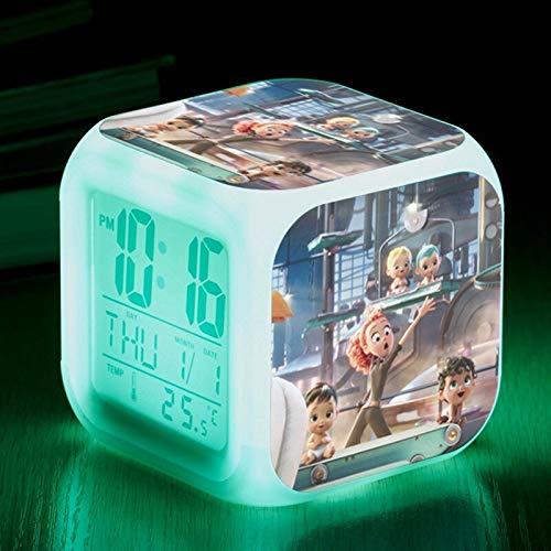 shiyueNB Reloj Despertador Digital retroiluminado luz Nocturna Luminosa Linterna de 7 Colores lámpara de Mesa Reloj de Pantalla de Mesa LCM01