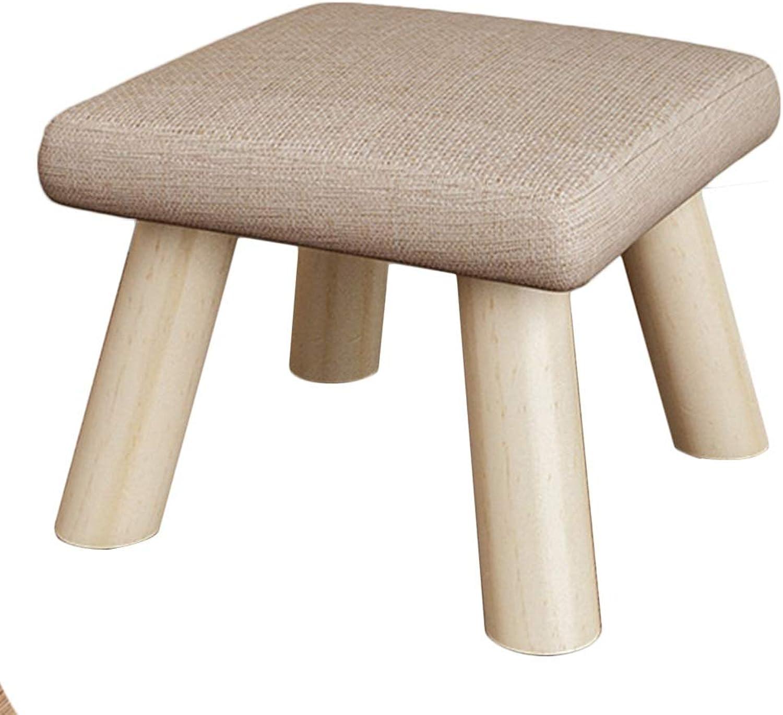 JIANFEI Footstool Non-Slip Wear Resistant High Elasticity Sponge Solid Wood Material, 7 colors, 2 Sizes (color   B, Size   26x26x19cm)