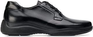 Prada Luxury Fashion Mens 4E3447B4LF0002 Black Lace-Up Shoes | Fall Winter 19