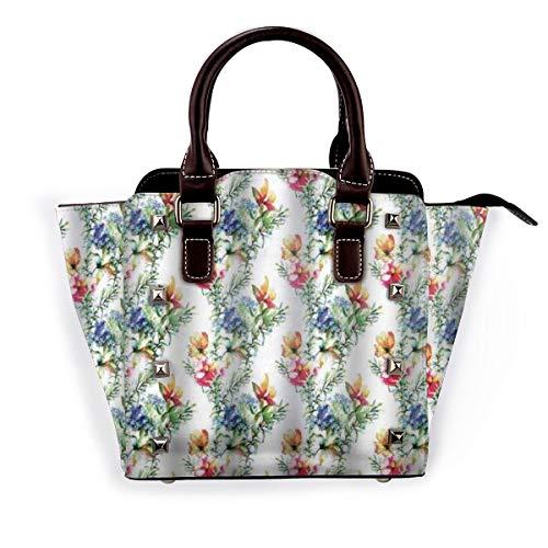 BROWCIN Shabby Chic Mimosen Gänseblümchen Blumen Blätter Knospen Flieder Kunstwerk Abnehmbare mode trend damen handtasche umhängetasche umhängetasche