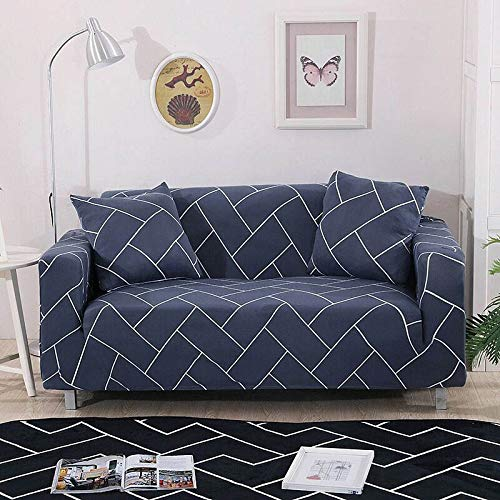 Funda de sofá elástica Fundas de sofá de algodón Fundas de sofá con Todo Incluido Fundas de sofá para Sala de Estar Fundas de sofá para Mascotas A23 2 plazas