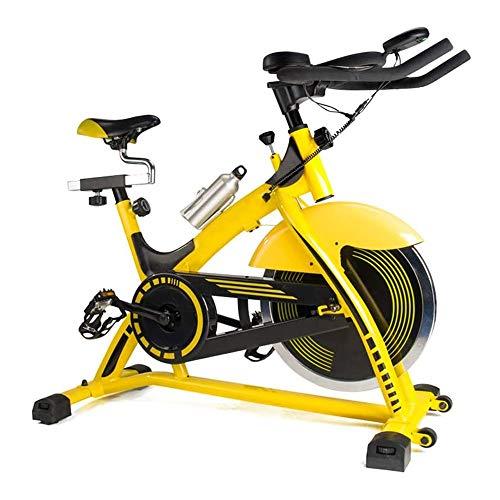 Ciclismo Indoor bicicleta estacionaria, la bicicleta estática con pantalla LCD y la prueba de frecuencia cardíaca, Diseño de rodillos for el movimiento fácil, ajustable resistencia, for la oficina, gi