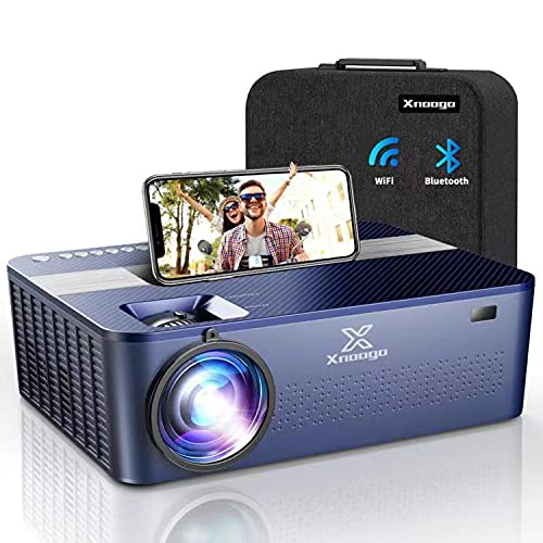 """5G WiFi Bluetooth Projector for Outdoor Movies,9500Lux Native 1080P Outdoor Projector 4K with 450"""" Display,Support 4K Dolby & Zoom,Compatible with Phone,PC,TV Box,PS4"""