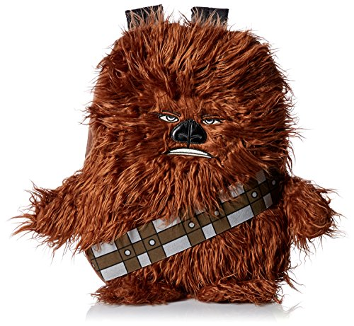 Star Wars Boys  Disney Chew Bacca 3d Plush Furry Arms & Legs Brown 16  Backpack, One Size