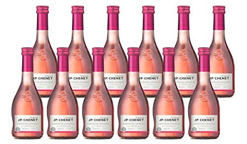 JP Chenet Vino Rosado - Pack de 12 Botellas de 0.25 l - Total: 3 l