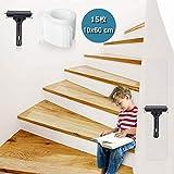 階段マット 滑り止めテープ 屋内・屋外 スリップ防止 転倒防止対策に PEVA製 透明 強粘着力 階段滑り止め粘着テープ 巻60cm*幅10cm 自由カット 製貼り付けやすい 15枚