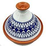 Tajine 0907211207 Casserole Terre cuite Plat ethnique Marocain Tunisino XL 32 cm