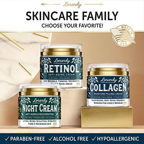 51+5PIKQCbL - Collagen Cream - Anti-Aging Face Moisturizer for Women - Made in USA - Day & Night Moisturizer for Face - Marine Collagen Face Cream - Antiwrinkle Face Cream - Collagen Face Cream with Vitamin E