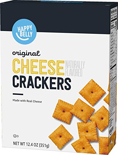 Amazon Brand  Happy Belly Original Cheese Crackers 124 Ounce