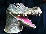 MFFACAI Halloween, Maschera del Fumetto di Alligatore, Coccodrillo della Bocca Grande, Lattice Naturale, Pittura Ambientale, puntine spaventose di Cosplay