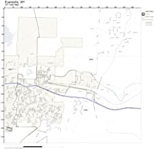 ZIP Code Wall Map of Evansville, WY ZIP Code Map Laminated