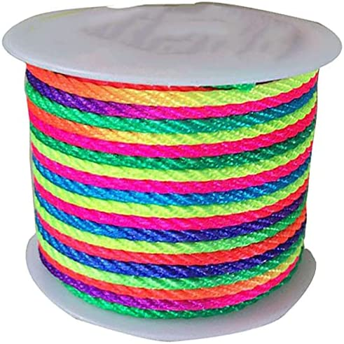 FC-05401 DIY-Jewelry 3mm Rainbow Price reduction Macrame Rope Max 74% OFF Twisted Bracelet C
