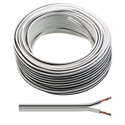 100m of Auline White Speaker Cable 13 Strand for Surround Sound Hifi Car Audio System