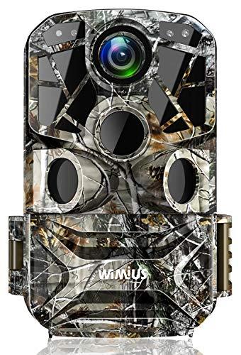 WiMiUS H8 WLAN Fototrappola 24MP 1296P WiFi Fotocamera da Caccia con Visione Notturna, Grandangolo 120 ° e Impermeabile IP66, Ideale per Animali Selvatici, Caccia e Sicurezza Domestica