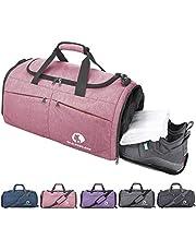 CANWAY Opvouwbare sporttas, opvouwbare reistas met vuile vak en schoenenvak, lichtgewicht 45 l, voor mannen en vrouwen