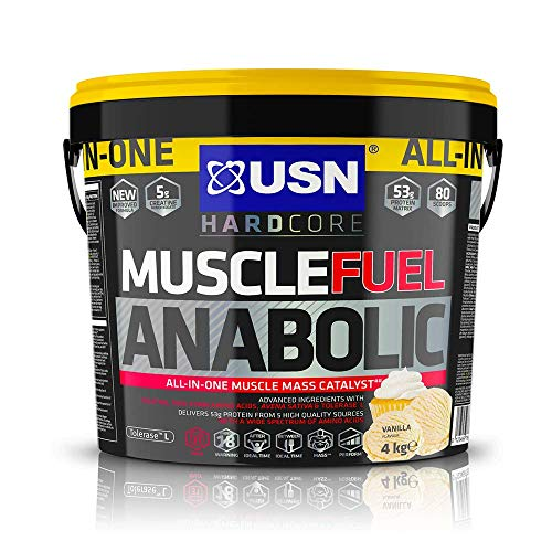 USN Muscle Fuel Anabolic Vanilla 4KG, Performance Boosting Muscle Gain Protein Shake Powder