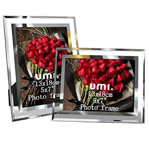 Amazon Brand – Umi - Cadre photo en verre 13x18cm (Lot de 2)