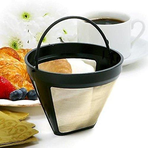 gaddrt Wiederverwendbarer Kegel-Kaffeefilter-dauerhafte waschbare Kaffeefilter-Maschinen und Brauer