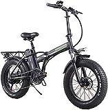 MQJ Bicicleta Eléctrica Plegable de Ebikes para Adultos, 7 Velocidades Mountain Mountain Bike Electric Bike 350W Watt Motor, Tres Modos Asistencia, Pantalla Led Vista Eléctrica de la Bicicleta Electr