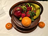 """Special DAY Wedding LOVE Gift Wooden Collapsible Fruit Basket (12""""x12""""x12"""") Elegant Wooden Foldable Fruit Basket Circular Hand Crafted Valentine Day Gift"""