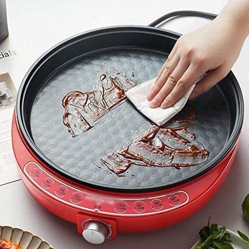 51+5SoY7ZvL - Zyyqt Brotbackmaschine Waffeleisen, Nonstick Elektro Pfannkuchen Maker Griddle, elektrische Pfanne mit Batter Spreader Temperaturregelung for Tortilla Eier