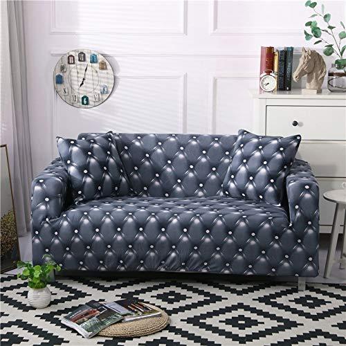 Funda de sofá de Sala de Estar con patrón Simple, Funda de sofá Lavable a Prueba de Polvo elástica Floral, sofá Cama A7 de 3 plazas