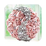Joyfeel-light Wedding Bouquet Gold Brooches Bouquet Crystal Accessories Silk Wedding Flowers Bridal Bouquets