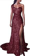 Women's Sequins Mermaid Prom Dress,Spaghetti Straps Deep V Neck Backless Gowns Wedding Evening Maxi Floor Length Dress