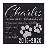 CustomizationMill Pet Memorial Stone Personalized - Granite Dog Grave Marker   6 x 6   Sympathy Poem, Loss of Pet Gifts, Indoor - Outdoor Pet Headstone - You were My Best Friend Grave Marker