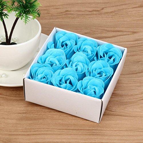Xshuai® Savon de bain parfumé en forme de cœur au hasard pour fête, anniversaire, Saint-Valentin, décoration de mariage (Bleu)