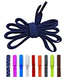 New Arrives DB NO TIE LACES (Elastic No Tie Shoe Laces)One Size Fits All Adult and Kids Navy Blue Shoe Strings