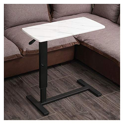 Qgg Adjustable table Portable Overbed Chair Computer Desk,C Shaped Notebook Laptop Desk Working On Your Laptop/tablet (Color : Marble pattern, Size : 80 * 40cm)